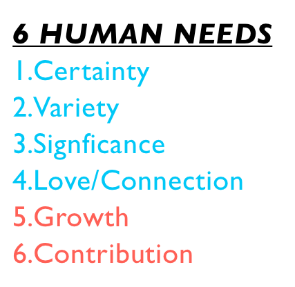 6 Human needs The 6 Human Needs   The Egoic Needs